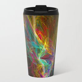 Fractal on black Travel Mug