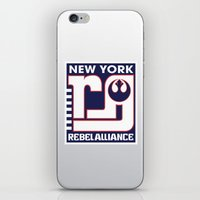 nfl iPhone & iPod Skins featuring NY Rebel Alliance - NFL by Steven Klock
