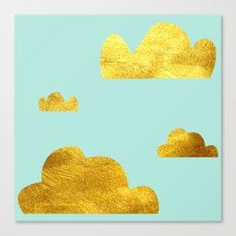 Gold cloud blue Canvas Print