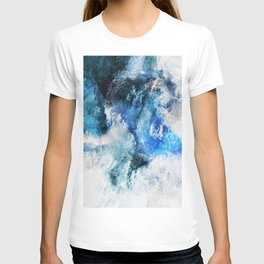 Waves Abstract Painting - Minimalist Seascape Painting T-shirt