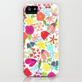 Wildflower Pattern iPhone Case