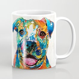 Colorful Dog Pit Bull Art - Happy - By Sharon Cummings Coffee Mug