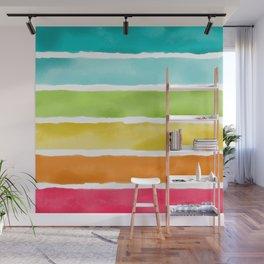 Watercolor Stripes Wall Mural