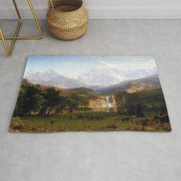 Albert Bierstadt Landers Peak Rug