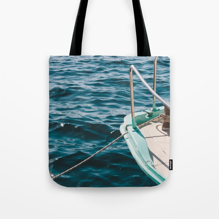 Boat Water Sea Photography Tote Bag By Photo