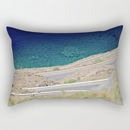 One way up, one way down. Rectangular Pillow