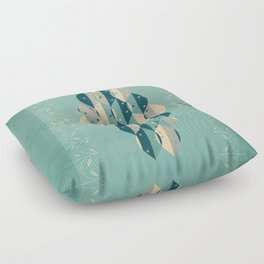 50's floral pattern IV Floor Pillow