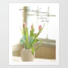 Three Tulips Art Print