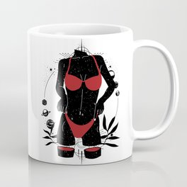 Space body solar system in black Coffee Mug