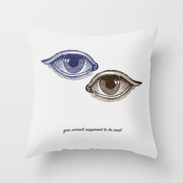 Eyes Both Brown and Blue Throw Pillow