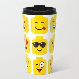 Emoji-Minifigure Travel Mug