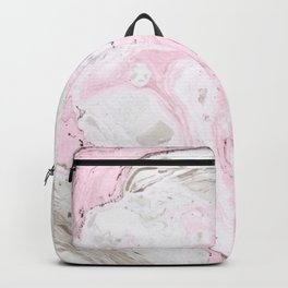 Pink and gray marble Backpack