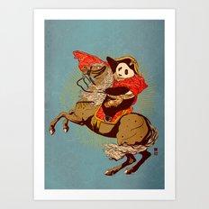 The Panda's Ride  Art Print