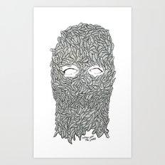 KEEP OFF THE LARVE Art Print