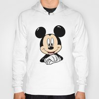mickey Hoodies featuring Mickey by Yuliya L