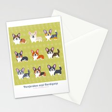 Pembrokes and Cardigans - CORGIS Stationery Cards