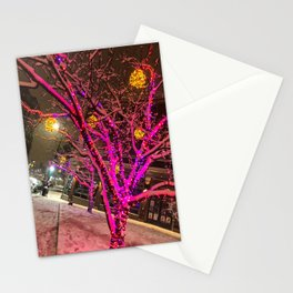 Longfellow Square Christmas Lights (1) Stationery Cards