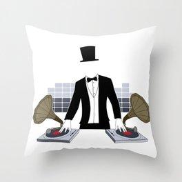 DJ Gramophone Throw Pillow