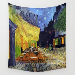 Van Gogh, Café Terrace at Night 1888 Artwork Reproduction, Posters, Tshirts, Prints, Bags, Men, Wome Wall Tapestry
