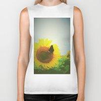 sunflower Biker Tanks featuring Sunflower by Falko Follert Art-FF77