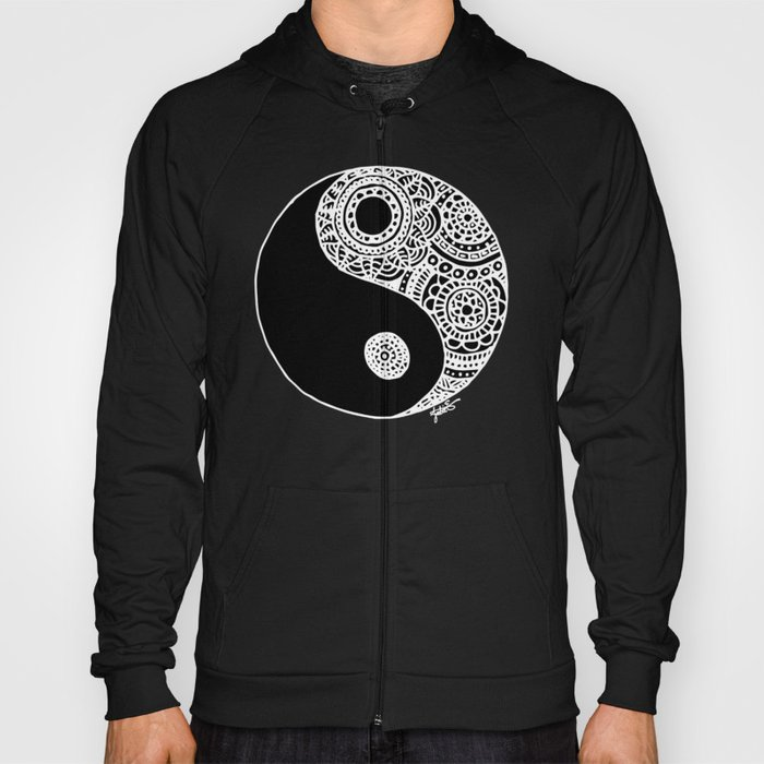 Black and White Lace Yin Yang Hoody