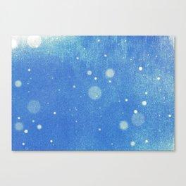 Vintage snow and blue sky Canvas Print