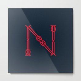 Letterform N Metal Print