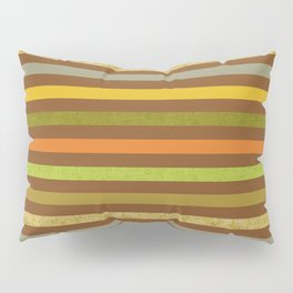 Fall Colors Stripes Craft Paper Texture Pillow Sham