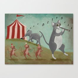 The Great Circus Escape Canvas Print