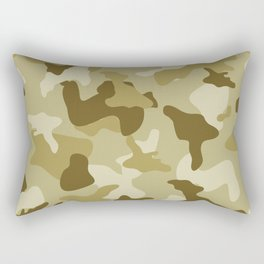 Yellow sand camo camouflage army pattern Rectangular Pillow