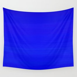 Solid Cobalt Blue - Brush Texture Wall Tapestry