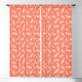 Positive Vibes on Coral Blackout Curtain