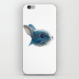 cute bunny illustration iPhone Skin