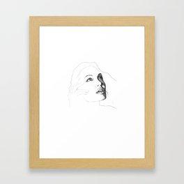 Amazing Angelina Jolie Draw Framed Art Print