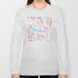Rainbow Marble Pattern Long Sleeve T-shirt