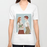 lydia martin V-neck T-shirts featuring Allison Argent/Lydia Martin 50's AU by vulcains