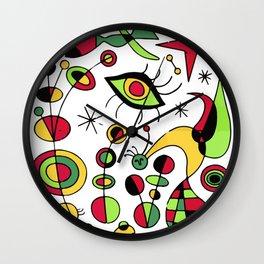 Joan Miro Peces De Colores (Colorful Fish ) Artwork for Posters Tshirts Prints Men Women Kids Wall Clock
