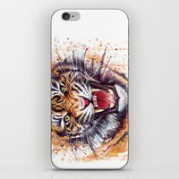 tiger iPhone & iPod Skins featuring Tiger by Olechka