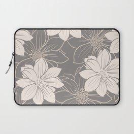 Pink and grey autumn dahlia flowers Laptop Sleeve