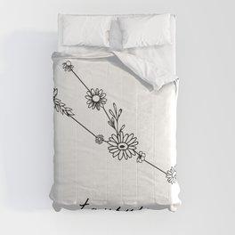 Taurus Floral Zodiac Constellation Comforters