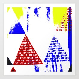 Untitled 088 in Red, Blue, and Yellow (2019) Art Print
