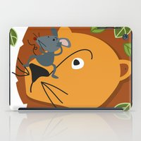leon iPad Cases featuring Mouse&Leon by Lara Savoia