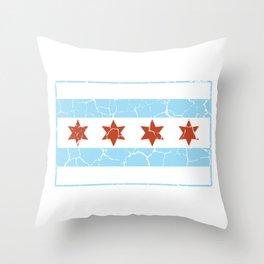Chicago Flag Symbol Landmark Windy City Throw Pillow