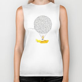 Yellow Submarine flying with Music Biker Tank