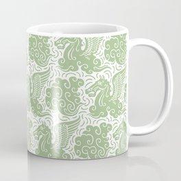 Pegasus Pattern Nile Green Coffee Mug