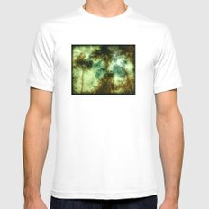 Forest Memories In Green Mens Fitted Tee White MEDIUM