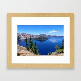 Deep Blue Carter Framed Art Print