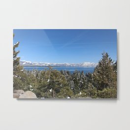 Snow Caps Metal Print