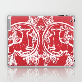 twin dancing stags of asheville from a wood carving Laptop & iPad Skin