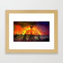 God Gamble Big Guru Framed Art Print